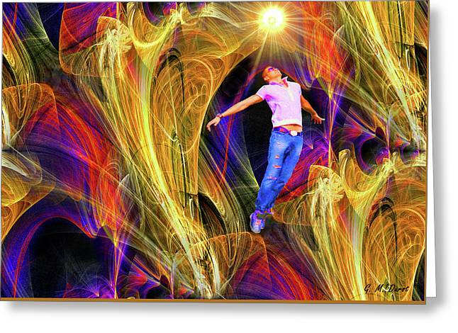 Abstract Digital Mixed Media Greeting Cards - Transcendence Greeting Card by Michael Durst
