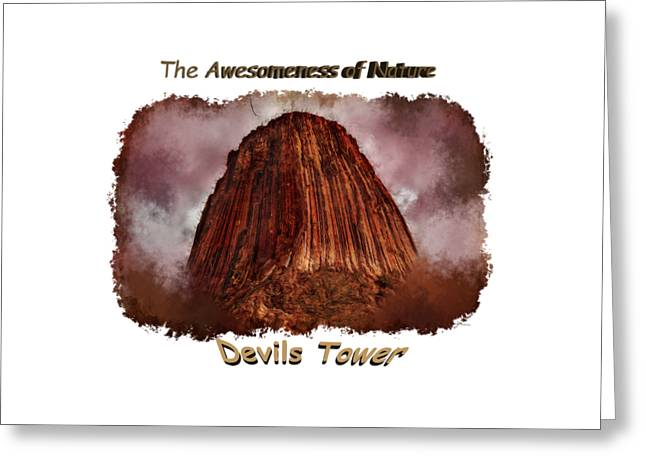 Short Sleeves Greeting Cards - Transcendent Devils Tower 2 Greeting Card by John Bailey