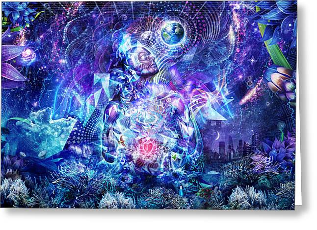 Meditation Digital Greeting Cards - Transcension Greeting Card by Cameron Gray