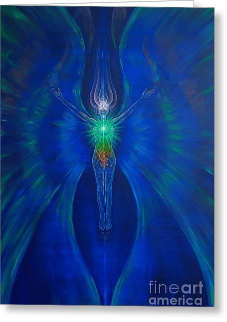 Spiritual Being Greeting Cards - Transfiguration Greeting Card by Tatiana Kiselyova