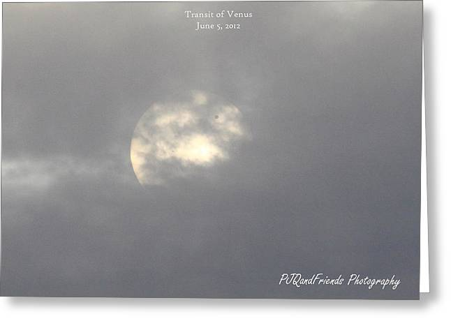 Transit Of Venus Greeting Card by PJQandFriends Photography