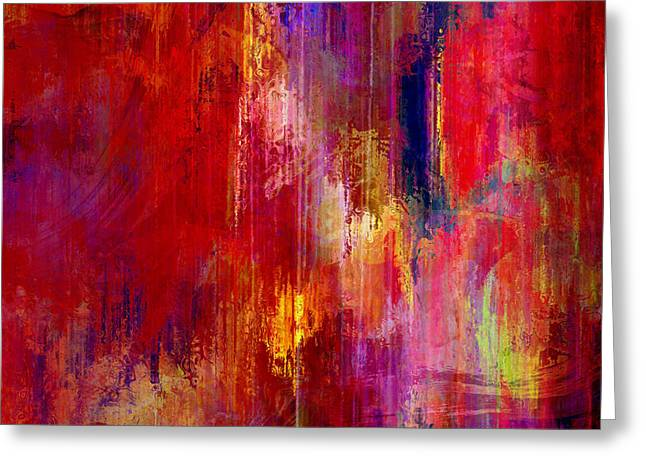 Purchase Greeting Cards - Transition - Abstract Art Greeting Card by Jaison Cianelli