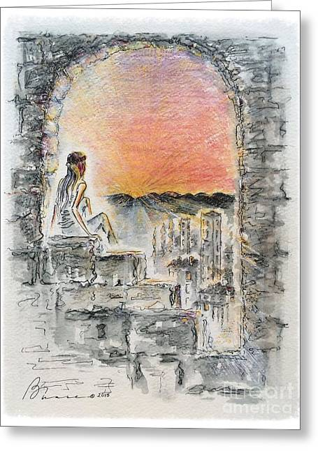 Spectacular Drawings Greeting Cards - Transition Greeting Card by Barbara Chase