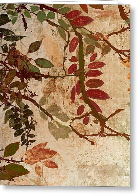 Autumn Landscape Paintings Greeting Cards - Transition Greeting Card by Mindy Sommers