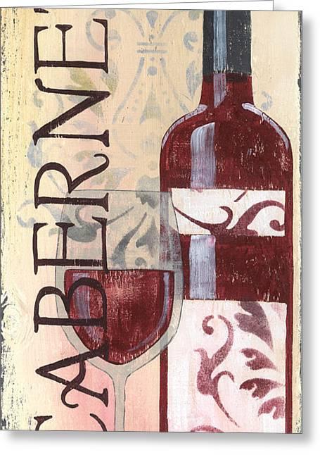 Chianti Greeting Cards - Transitional Wine Cabernet Greeting Card by Debbie DeWitt