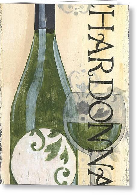 Pinot Noir Greeting Cards - Transitional Wine Chardonnay Greeting Card by Debbie DeWitt