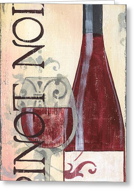 Chianti Greeting Cards - Transitional Wine Pinot Noir Greeting Card by Debbie DeWitt