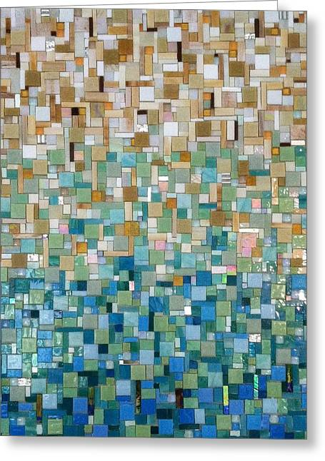 Wall-hanging Glass Greeting Cards - Transitions Greeting Card by Dianne Cutler
