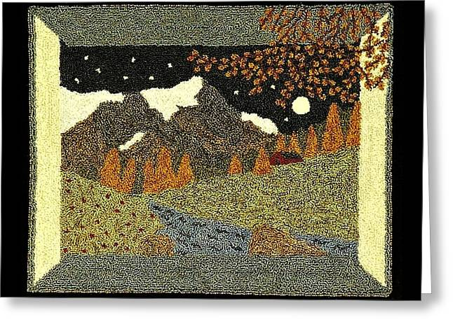Primitive Tapestries - Textiles Greeting Cards - Transitions Greeting Card by Jan Schlieper