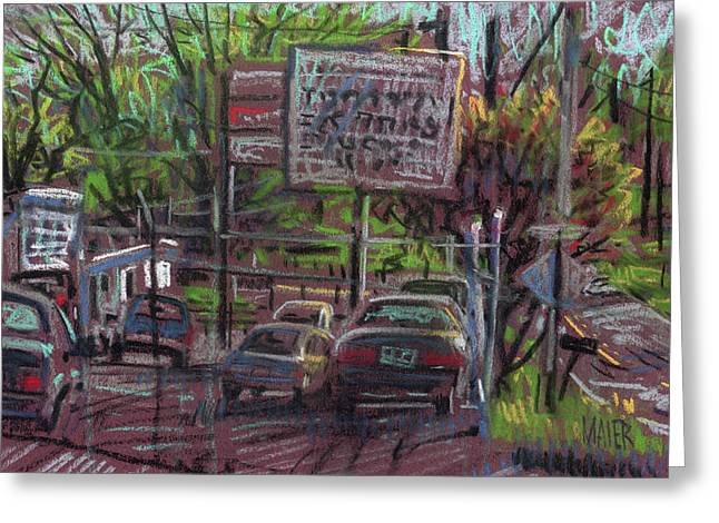 Repaired Pastels Greeting Cards - Transmission Repair Greeting Card by Donald Maier