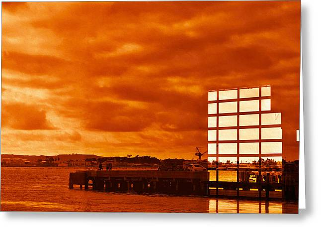 San Diego Harbor Cruise Greeting Cards - Transparent Reflections Greeting Card by See My  Photos