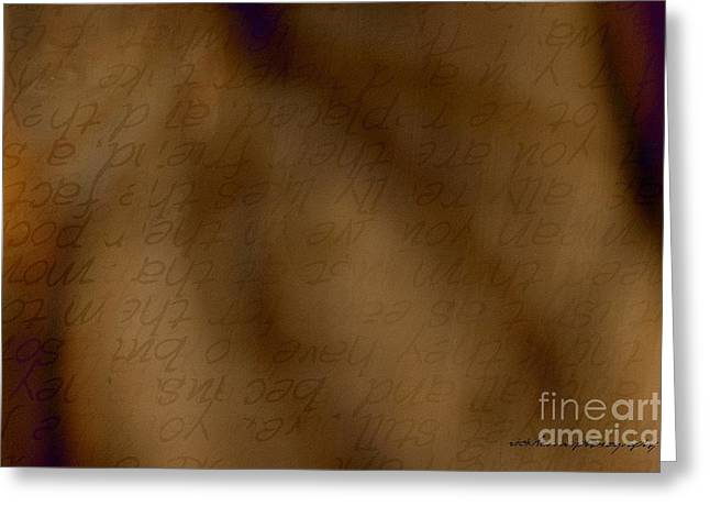 Behind The Scene Greeting Cards - Transparent Words Greeting Card by Vicki Ferrari
