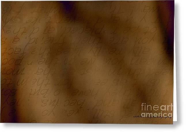 Transparent Words Greeting Card by Vicki Ferrari