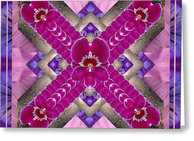 Purple Chakra Greeting Cards - TransPortal Greeting Card by Bell And Todd