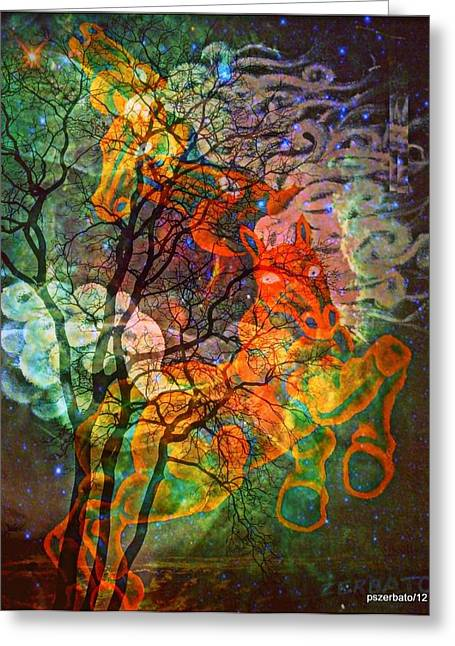 Transportation Perpetual Of The Up-and-coming Soul  Greeting Card by Paulo Zerbato
