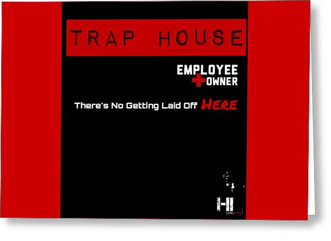 Miami Tapestries - Textiles Greeting Cards - Trap House  Greeting Card by HI Level