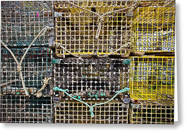 Lobster Nets Industry Greeting Cards - Traps and Knots Greeting Card by Colleen Kammerer