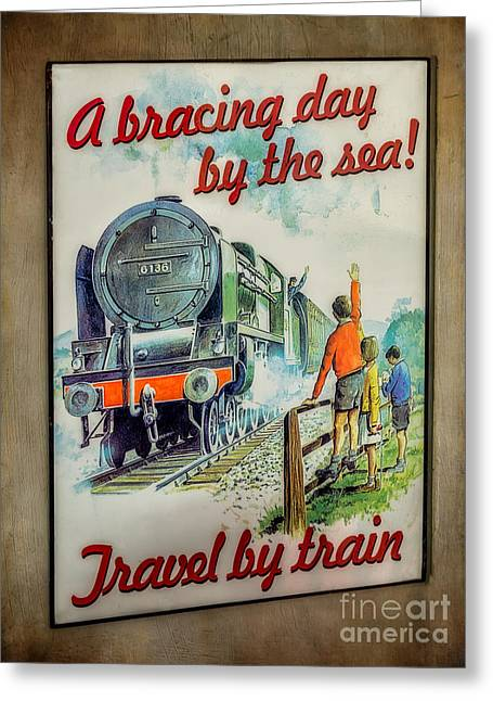 Signed Digital Greeting Cards - Travel by Train Greeting Card by Adrian Evans