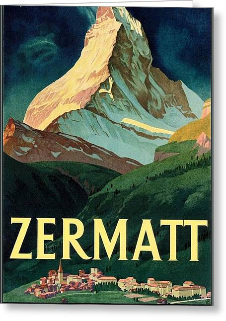 Travel Poster Restored By Me Greeting Card by MotionAge Designs