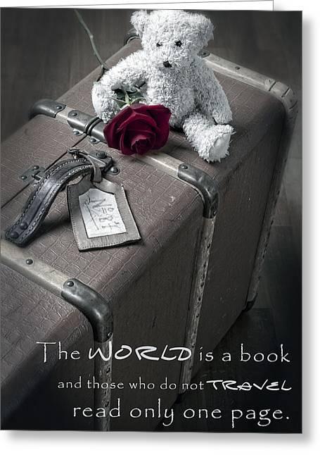 Plush Greeting Cards - Travel the world Greeting Card by Joana Kruse