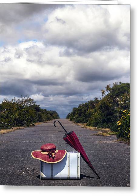 Red Bag Greeting Cards - Travel Utensils Greeting Card by Joana Kruse