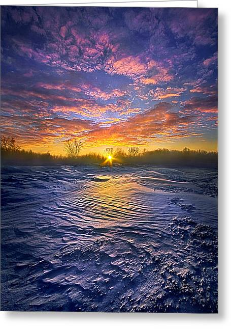 Traveled By Many, Remembered By Few Greeting Card by Phil Koch