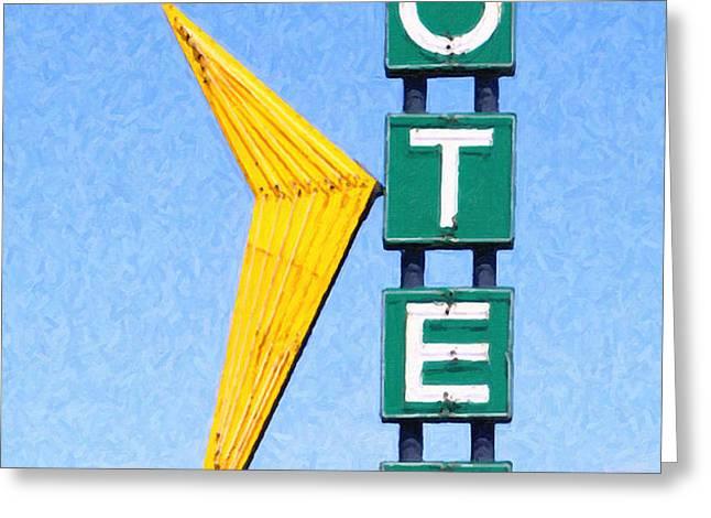 Travelers Motel Tulsa Oklahoma Greeting Card by Wingsdomain Art and Photography