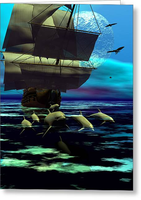 Traveling Companions Greeting Card by Claude McCoy