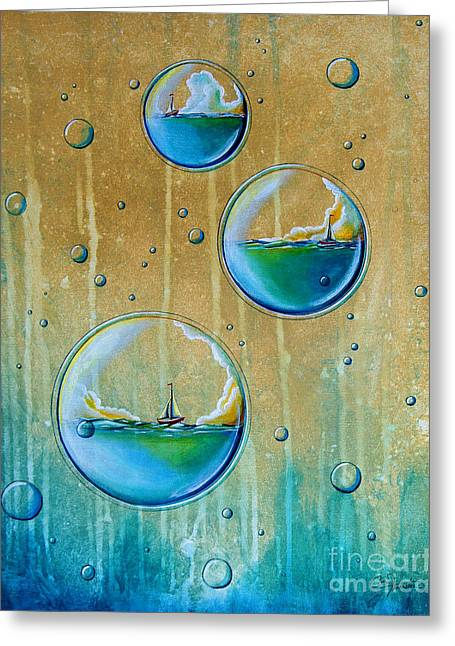 Underwater.saltwater Greeting Cards - Traveling In Circles Greeting Card by Cindy Thornton