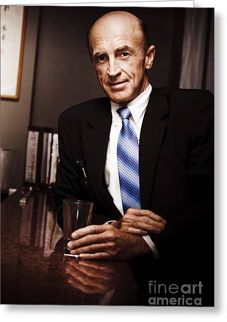 Travelling Businessman At Hotel Greeting Card by Jorgo Photography - Wall Art Gallery