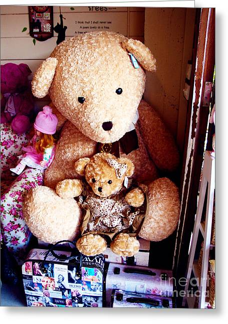 Toy Shop Greeting Cards - Travelling Ted  Greeting Card by Kim Magee and Crystal Mclean  Aunt and Niece Photography