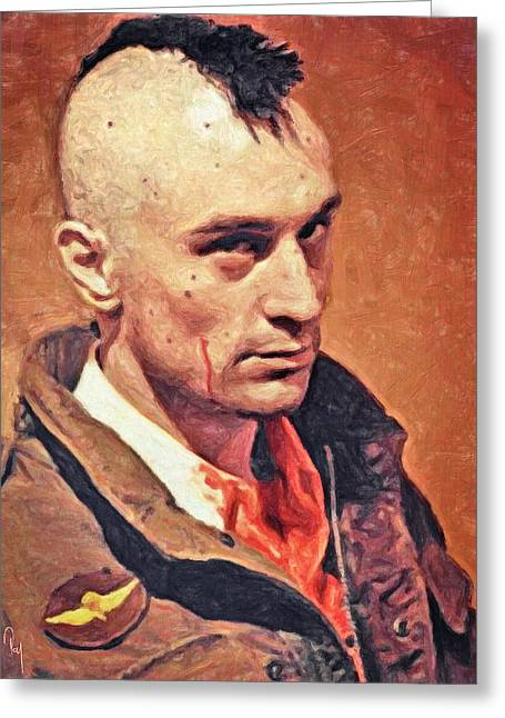 Robert De Niro Greeting Cards - Travis Bickle Greeting Card by Taylan Soyturk