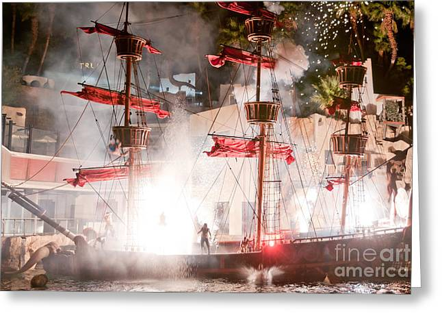 Treasure Island Flashes Greeting Card by Andy Smy