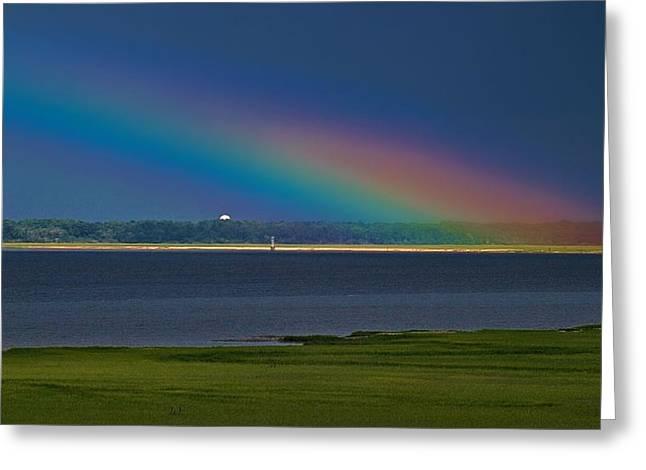 Summer Storm Greeting Cards - Rainbow Island Greeting Card by Laura Ragland