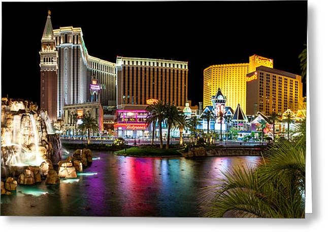 Las Vegas Greeting Cards - Treasure Island View Greeting Card by Az Jackson