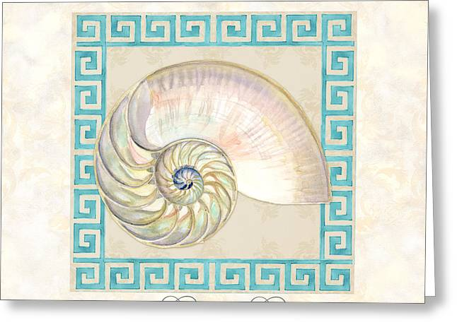 Florida Gulf Coast Greeting Cards - Treasures from the Sea - Nautilus Shell Interior Greeting Card by Audrey Jeanne Roberts