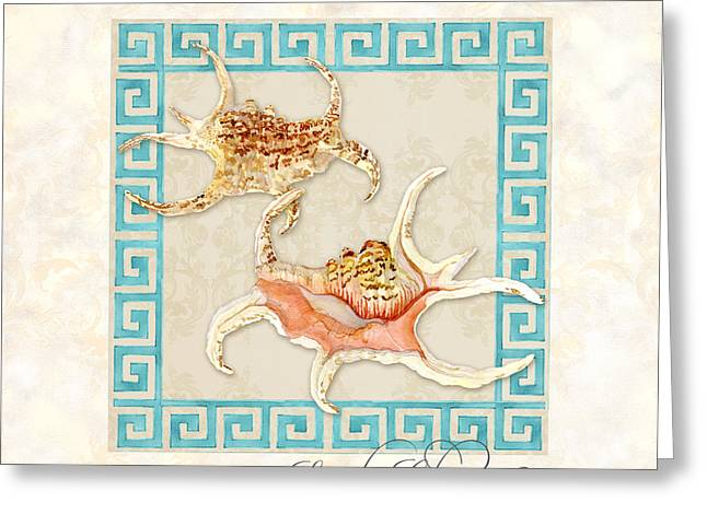 Treasures From The Sea - Spider Conch Greeting Card by Audrey Jeanne Roberts