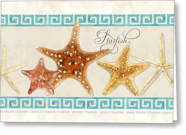 Treasures From The Sea - The Chorus Line Greeting Card by Audrey Jeanne Roberts