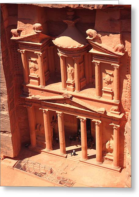 Petra - Jordan Greeting Cards - Treasury of Petra Greeting Card by Paul Cowan