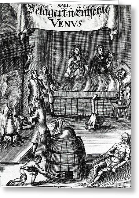 Steam Bath Greeting Cards - Treatments For Syphilis, 17th Century Greeting Card by Science Source