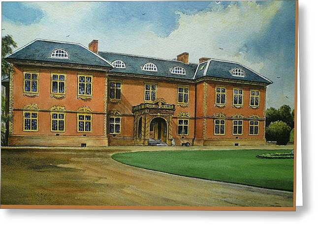"""haunted House"" Paintings Greeting Cards - Tredegar House Greeting Card by Andrew Read"
