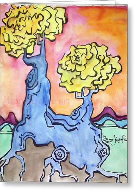 Bonnie Rose Art Greeting Cards - Tree 14 Greeting Card by Bonnie Rose Parent