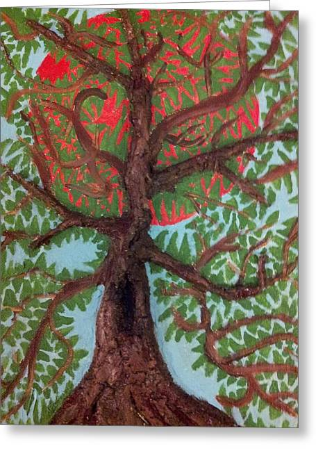Strength Reliefs Greeting Cards - Tree 2 Greeting Card by William Douglas