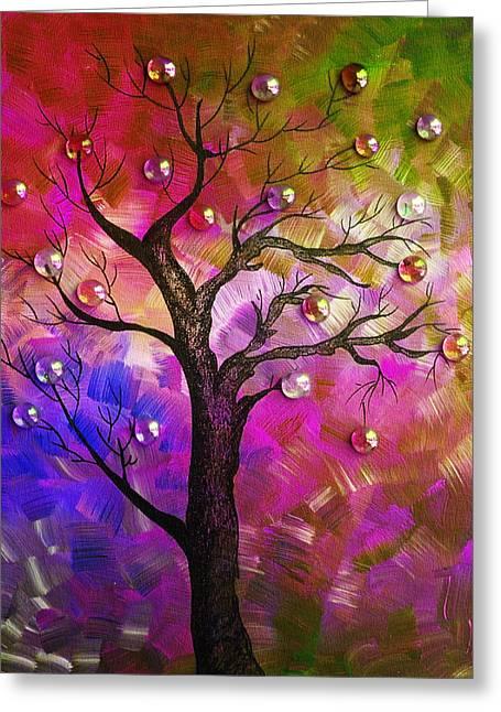 Vector Image Paintings Greeting Cards - Tree Fantasy2 Greeting Card by Ramneek Narang
