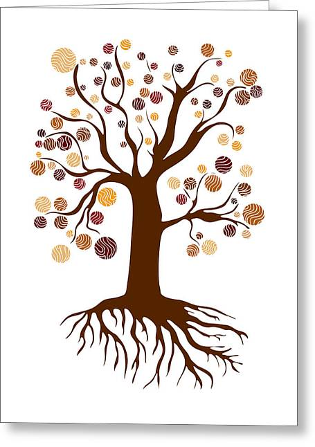 Roots Drawings Greeting Cards - Tree Greeting Card by Frank Tschakert