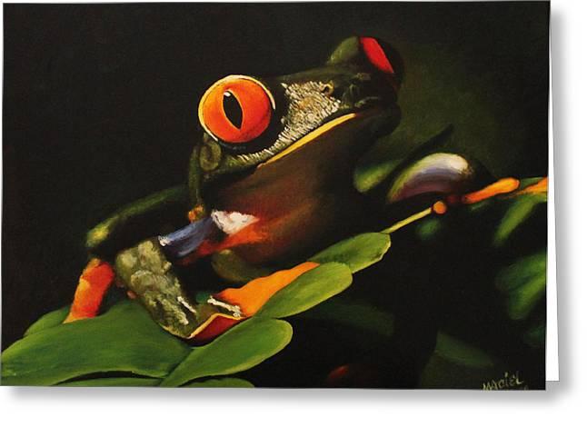 Tree Frog Greeting Card by Maciel Cantelmo
