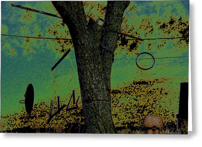 Hanging Mobile Greeting Cards - Tree Hangings Greeting Card by Lenore Senior