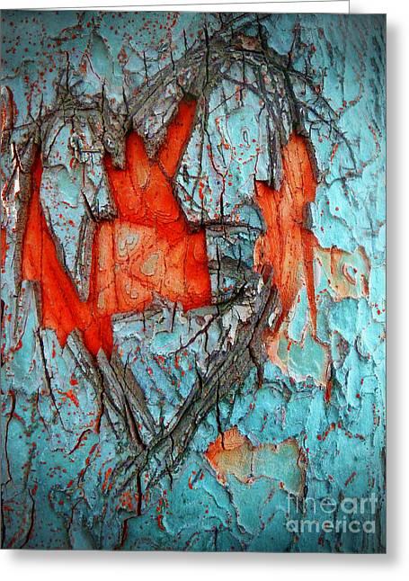 Colourful Bark Greeting Cards - Tree Heart Greeting Card by Tara Turner