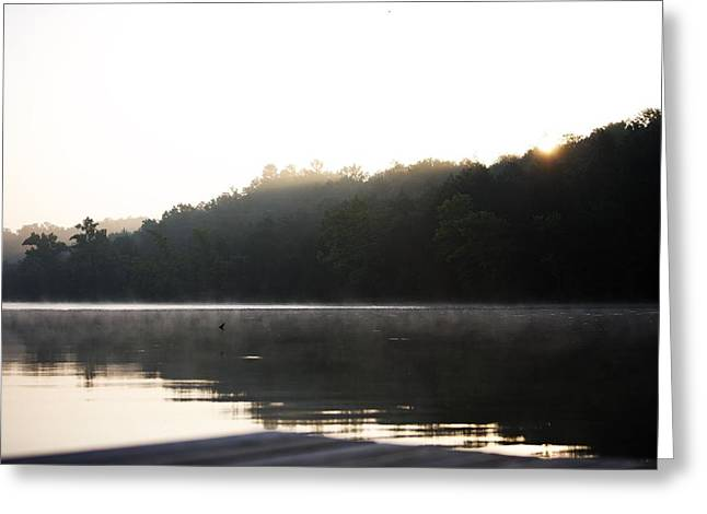 Calm Waters Photographs Greeting Cards - Tree Landscape With Water Greeting Card by Gillham Studios