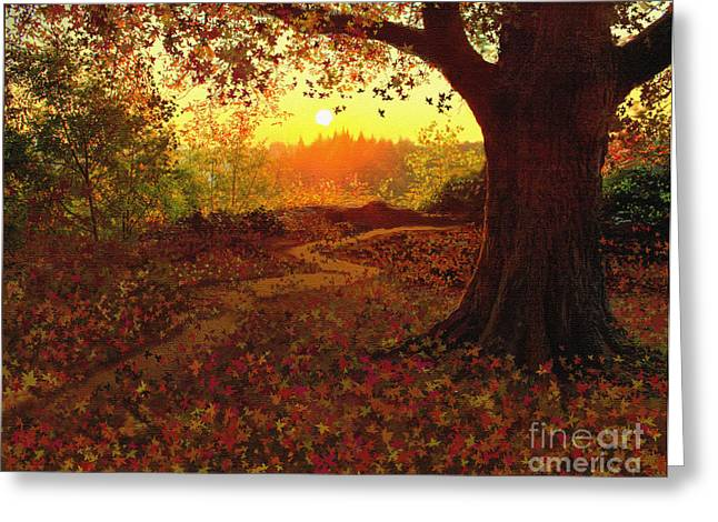 Fallen Leaf Greeting Cards - Tree Leaves Greeting Card by Robert Foster